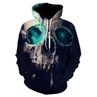 Skull Headr Men Hoodies Sweatshirts 3D Printed Funny Hip HOP Hoodies Novelty Streetwear Hooded Autumn Jackets