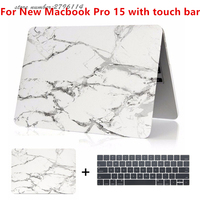 Matte Marble Hard Cover Case For New Macbook Pro 15 2016 With Touch Bar Laptop Case