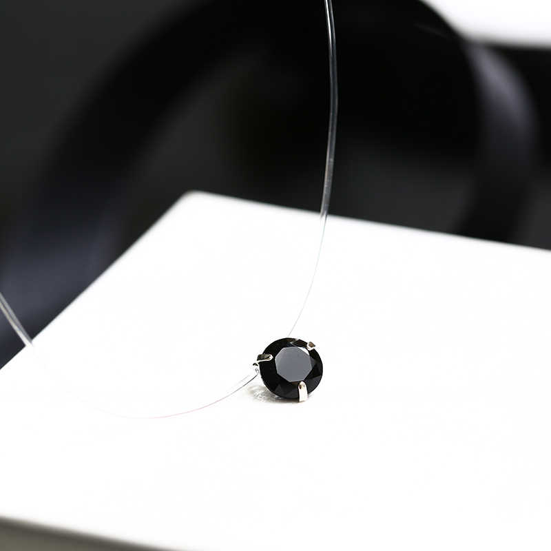 CARSINEL 10 Colors Fish Line Necklace for Women Invisible Transparent Choker Necklace Fashion Necklaces & Pendants New Jewelry