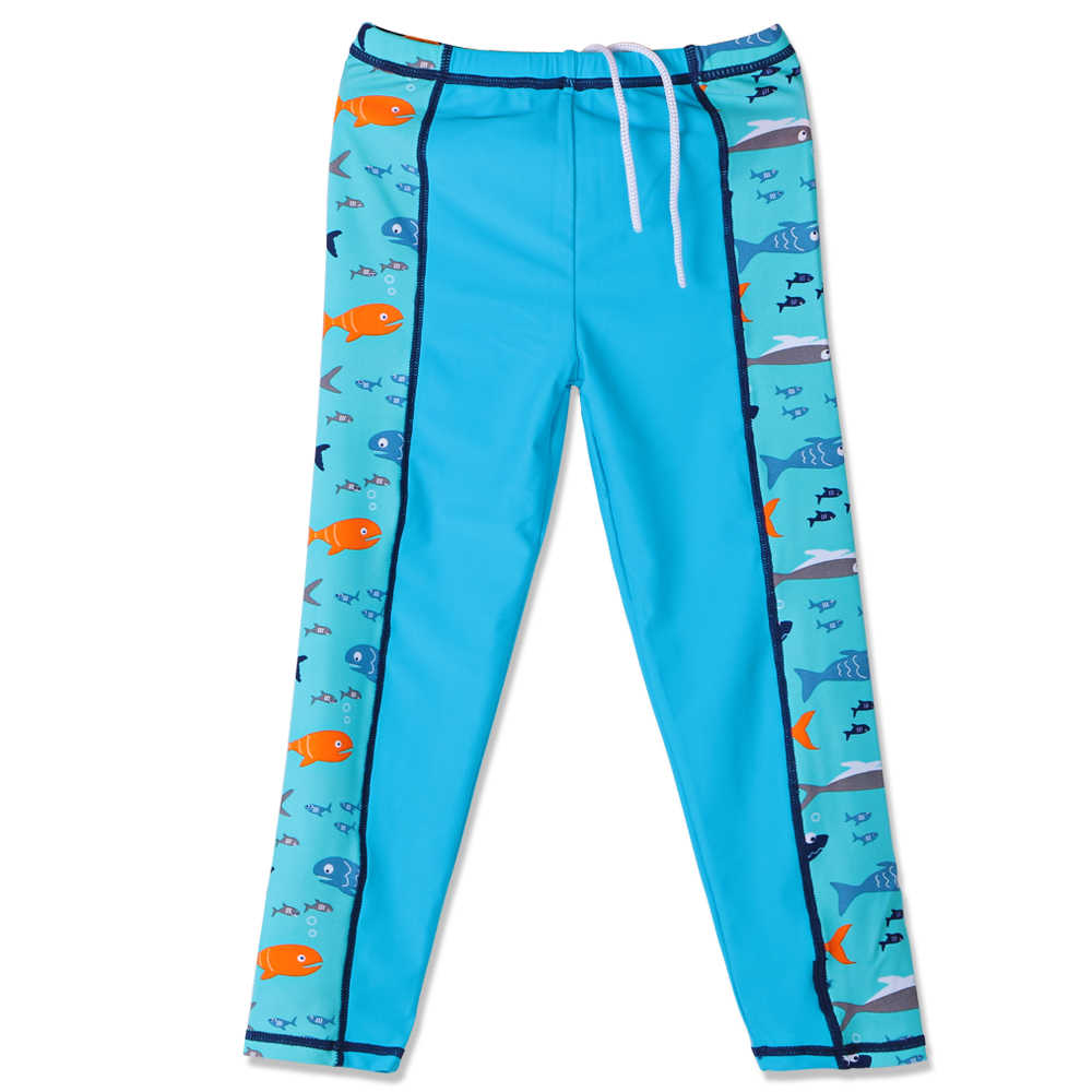 409703d086e0 2017 verano manga larga lycra baño Niños azul marino Natación traje de  tiburón bañadores niños trajes de dos piezas para Niños niños 3-12y