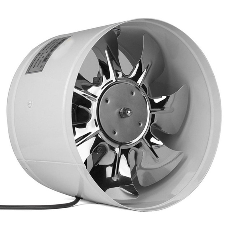 Inline Duct Fan Booster Exhaust Fan Air Cooled Vent Metal Blade|Fans| |  - title=