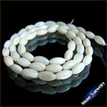 """Comercio al por mayor 4x7mm Mano Moler Blanco Madre de Concha de Perla Oval Loose Beads Strand 15 """"africanos Joyería conjunto Accesso"""
