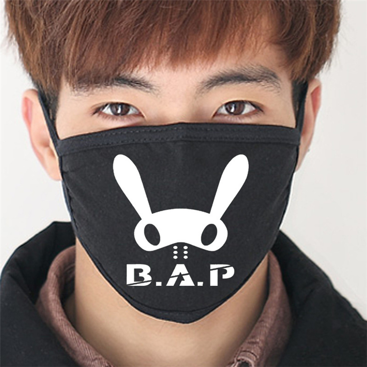 2016 New Black B.A.P Matoki Anti-Dust Cotton Mouth Mask Kpop Bap Collective Masks K-pop Teens Face Mouth-muffle Face Respirator