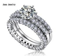 A Timeless Designer Platinum Steel Ring With 2 Rows Clear Stones Never Change Color Finest Stones