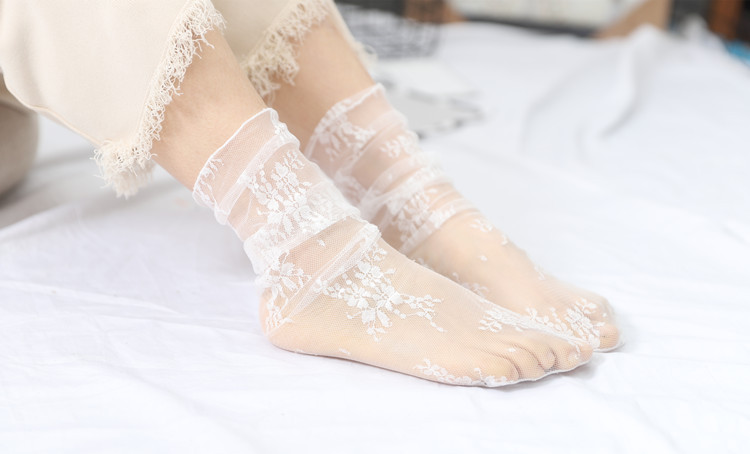 HTB1nDm2TbPpK1RjSZFFq6y5PpXa8 - Sexy Tulle Socks Transparent Thin Long Lace Socks For Women Girl Summer Funny Socks Female Dress Hosiery Loose Sock Street