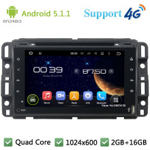 Quad Core 7″ Full Touch 1024*600 Android 5.1.1 Car DVD Multimedia Player Radio Stereo PC FM 3G/4G WIFI GPS Map For GMC 2015-2016