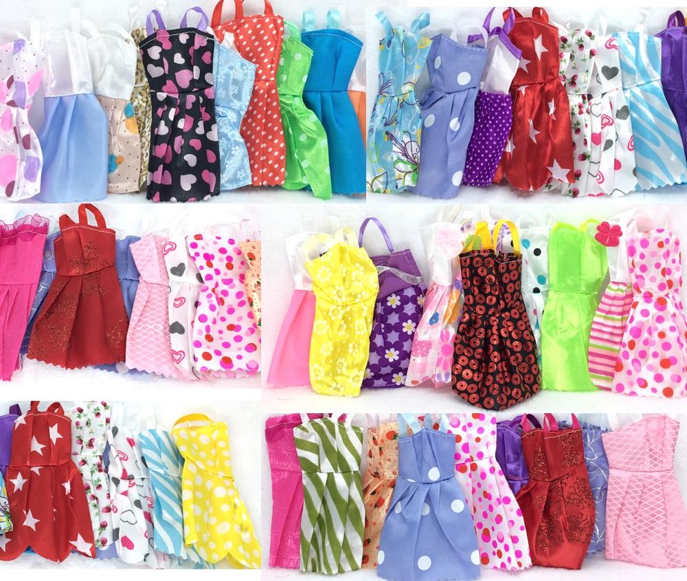 NK-28-ItemsLot10-Pcs-Mix-Sorts-Beautiful-Party-Clothes-Fashion-Dress-6-Pcs-Plastic-Necklace-12-Pair-Shoes-For-Barbie-Doll-5