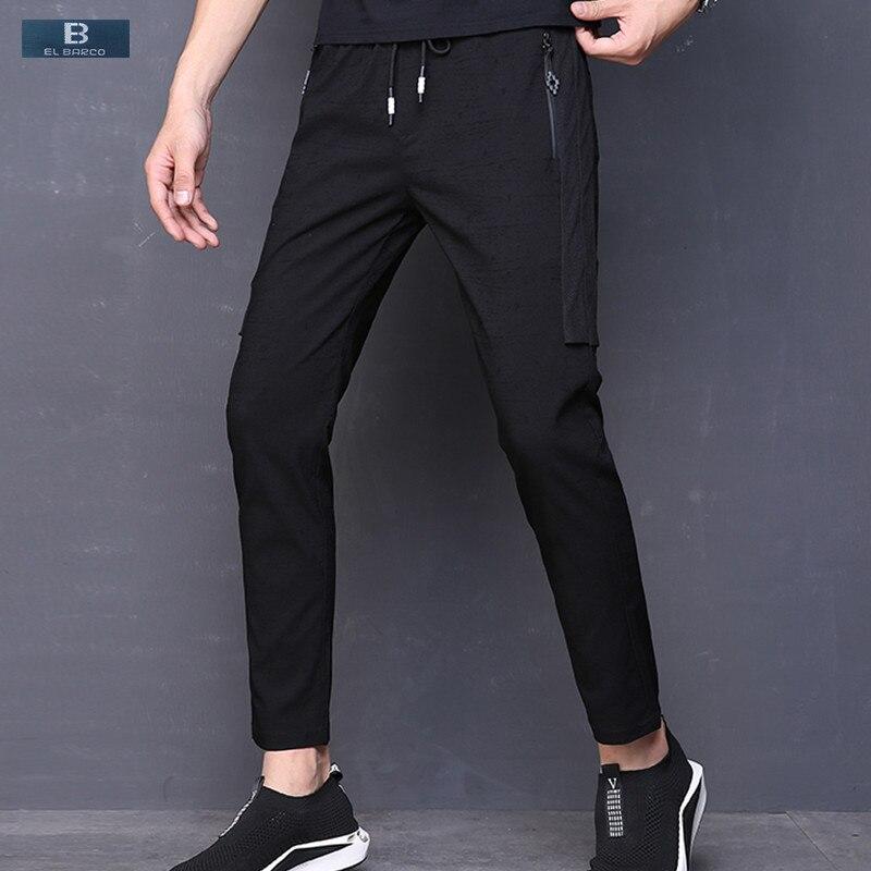 Brave 2018 Men Casual Pants Cotton Polyester Sweatpants Soft Breathable Black Male Trousers Autumn Slim Fit Joggers Size 28-38