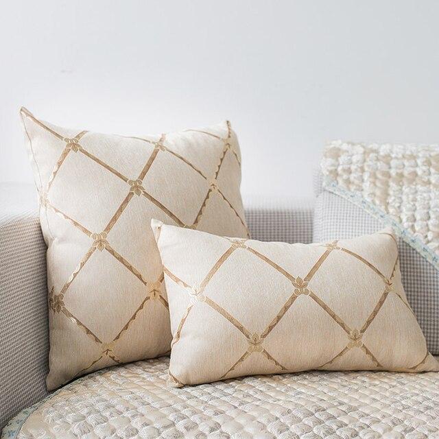 Patrones geométricos europeos cojines decorativos de lujo Almohadas ...