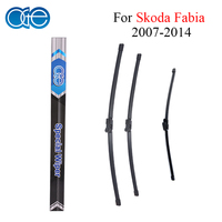 Combo Silicone Rubber Front And Rear Wiper Blades For Skoda Fbia 2007Onwards Windscreen Wipers Car Accessories
