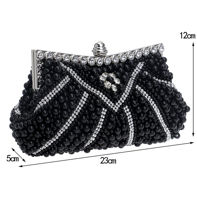 YINGMI  New Design Women Evening Bags Handmade Beaded Diamonds Soft Shell Design Day Clutches For Wedding/Party/Dinner Purse
