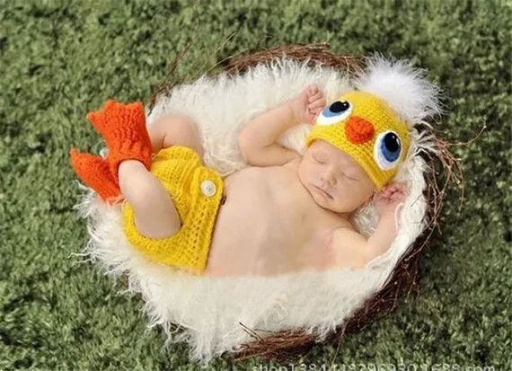 Fashion 2016 Crochet Knit Baby Hat and Diaper Cover & Shoes Costume Outfit Newborn Photography Props Infant Animal Beanies