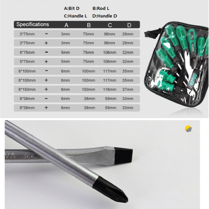 Material With Head Quality Set Screwdriver LAOA Phillips High CR Slotted And Pcs Household 9 For V
