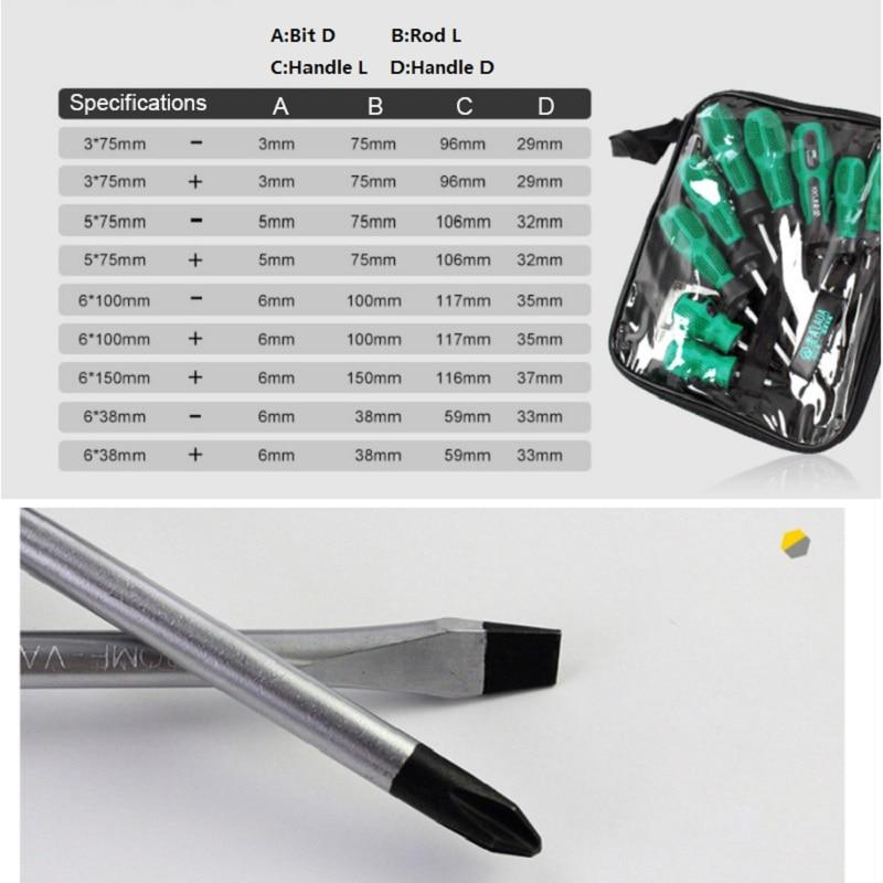 LAOA Hoogwaardige 9-delige CR-V-materiaalschroevendraaierset met - Handgereedschap - Foto 2