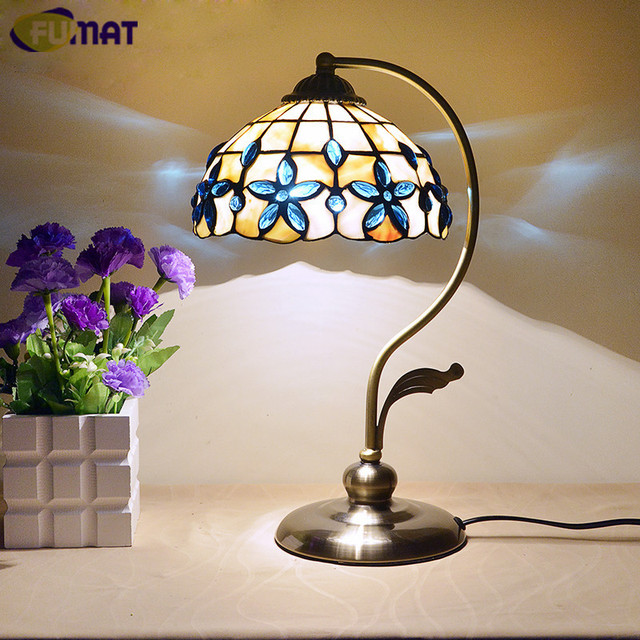 Fumat 8 inch blue lilac shell table lamp mediterranean bedroom fumat 8 inch blue lilac shell table lamp mediterranean bedroom beside light european classica pastoral table aloadofball Gallery
