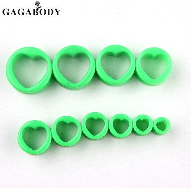 GAGA Green Ear Tunnel Screw Plug Ear Expander Stretcher Gauge Body ...