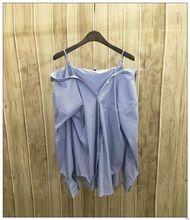 2017 SPRING Monlyay Jiang brand women  fashion single pocket strapless spaghetti strap shirt