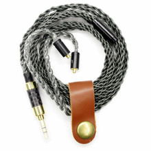 100% Más Reciente FENGRU 1.15 M hecho A Mano 8 acciones reemplazable MMCX cable Cable de los Auriculares de Alta Fidelidad Para Shure SE535 actualizar SE215 UE900 SE846