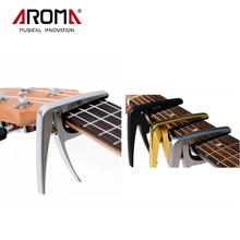 Aroma AC-01 Zinc Alloy Steel Spring Quick Tuning Change Tune Clamp Key Electric Acoustic 6-String Guitar Capo