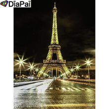 DIAPAI Diamond Painting 5D DIY 100% Full Square/Round Drill Tower night view Embroidery Cross Stitch 3D Decor A24743
