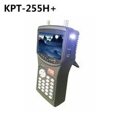 SZ Best satellite test tool Free Shipping Kpt 255H+ 4.3inch Led Handheld Dvb S2 satfinder HD signal