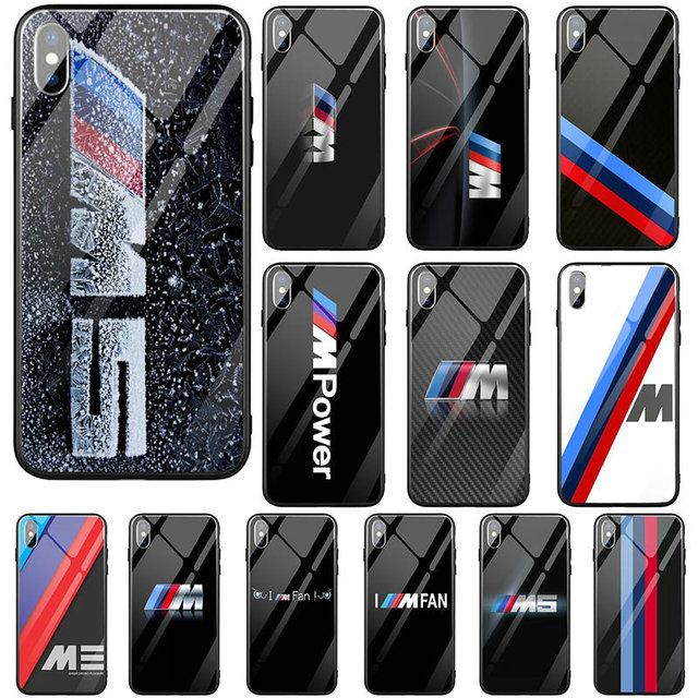 first rate ac6c9 fffaa US $3.99 |Hot Super Car BMW M LOGO Hard Tempered Glass Cover Mobile Phone  Cases for iPhone X XR XS Max 10 7 6 6s 8 Plus Cover Fundas Coque-in Fitted  ...