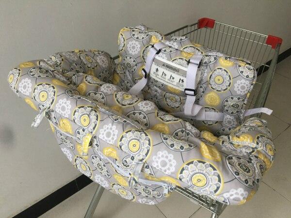 2в1 двухместная детская магазинная Тележка для покупок, крышка для обеденного стула, антибактериальная Защитная Подушка, портативная - Цвет: for single baby