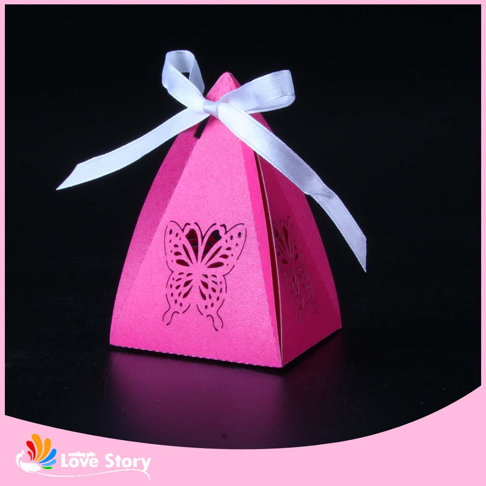 50pcs Lovely Butterfly Laser Cut Wedding Favor Box Candy Box Gift ...