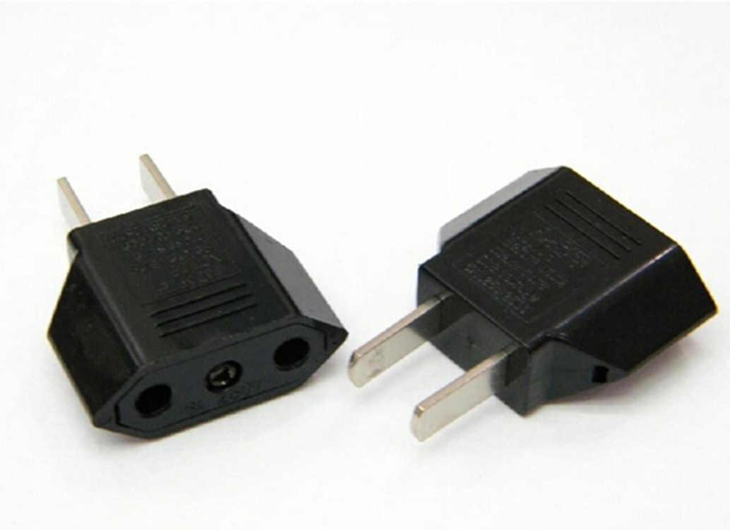 Evrensel abd ab tak abd Euro avrupa seyahat beyaz duvar AC güç şarj çıkışı adaptörü dönüştürücü 2 yuvarlak soket girişi Pin