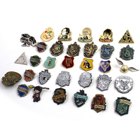 OHCOMICS 32pcs Harri Potter Harry Gryffindor Ravenclaw/Hufflepuff /Slytherin Metal GOLDEN SNITCH Badge Pin Brooch Chestpin Gifts
