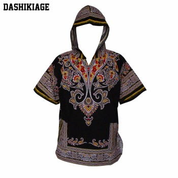 Dashikiage Mens Hipster African Swag Dashiki Fashion Loose Traditional Long Hoodie Top W/ Hood фото