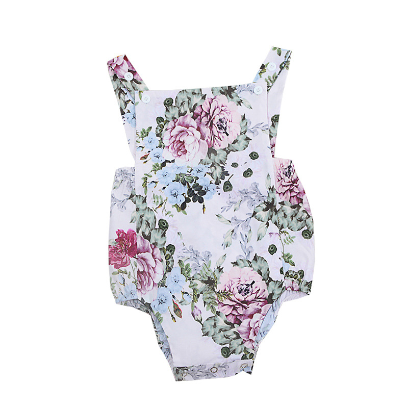 Markdown Sale Cute Newborn Clothing Infant Outfits Onesie Baby Sleeveless Floral Cotton 2018 Baby Girl Summer Clothes Bodysuit