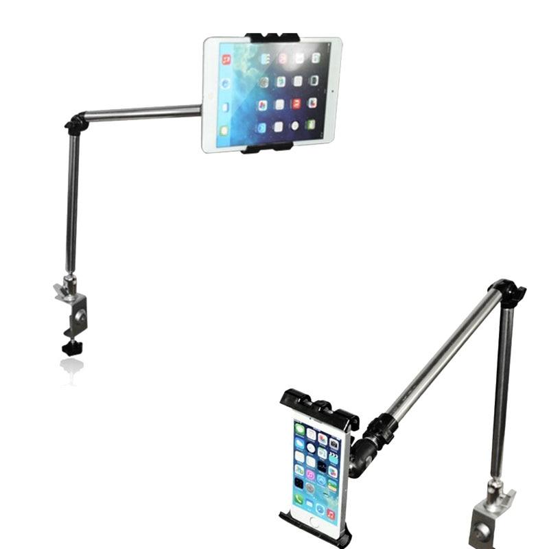 قرص بازوی چند منظوره قابل انعطاف پذیر 360 درجه / تلفن براکت جهانی برای غرفه قرص میز Ipad Lounger تختخواب