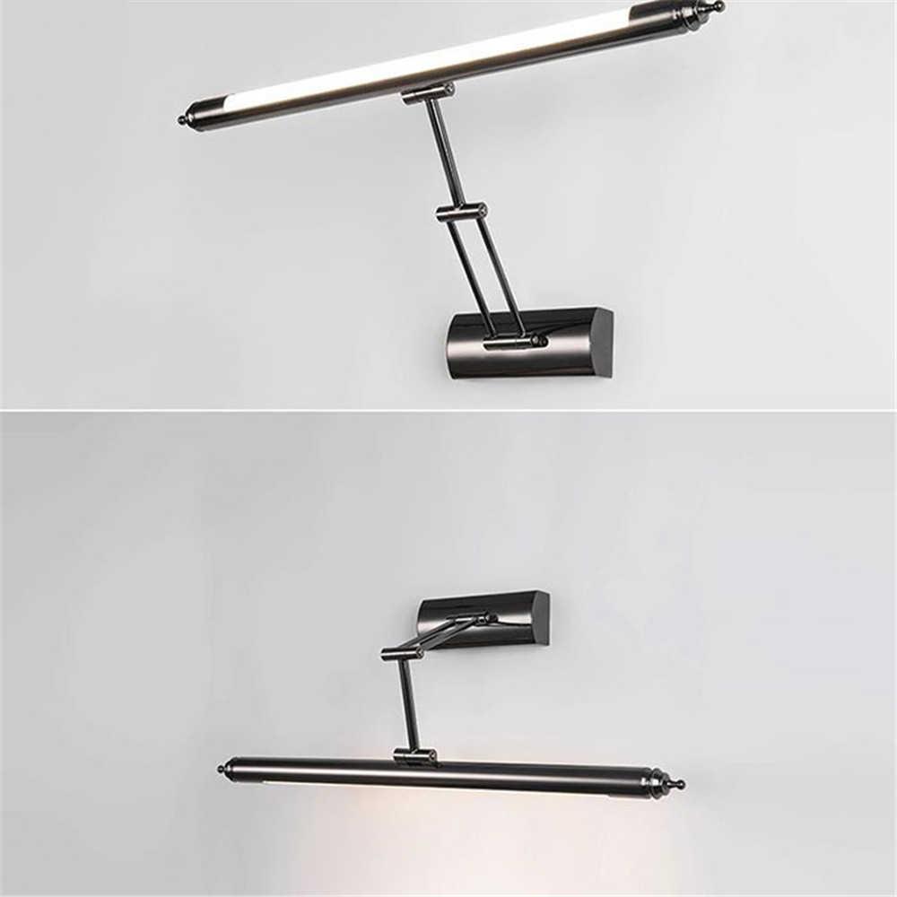 Современный светодиодный светильник с поворотным рычагом, настенный светильник с регулировкой поворота вверх и вниз, зеркальный светильник для шкафа, зеркальная лампа для ванной