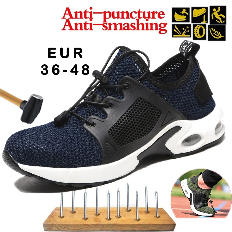 Hohner Men's Fashion Safety Steel Toe Shoes Breathable Anti-smashing Puncture Proof Work Outdoor Protective Shoes Plus 36-48