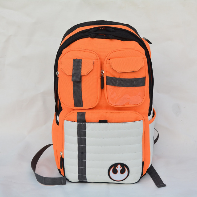 New Star Wars mochila rebeldes Logo alianza icono bolsa adolescente niños venta al por mayor mochila alta de la universidad mochila