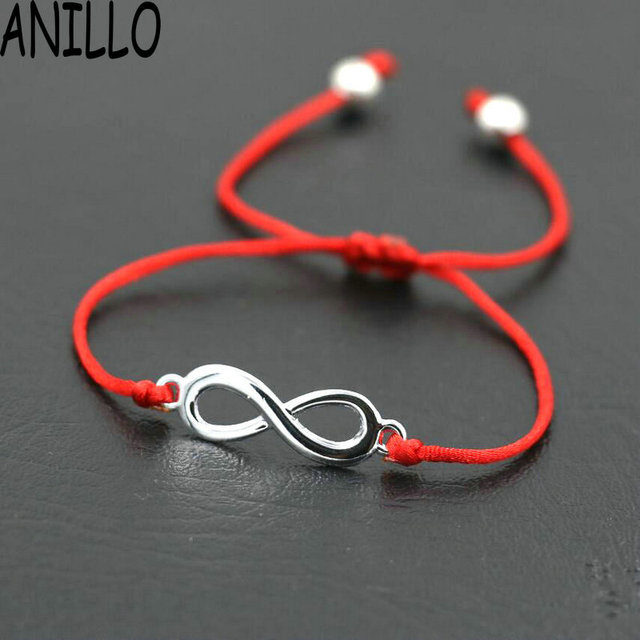 ANILLO Women Infinity 8 Charm Bracelet Lovers Lucky Red Thread String Bracelets
