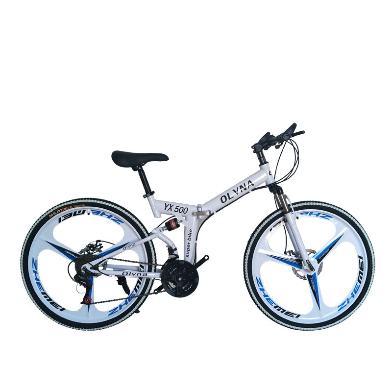 famous brand bicycle 21 speed mountain bicycle double disc brake bike New folding mountain bicycle Suitable for adults image