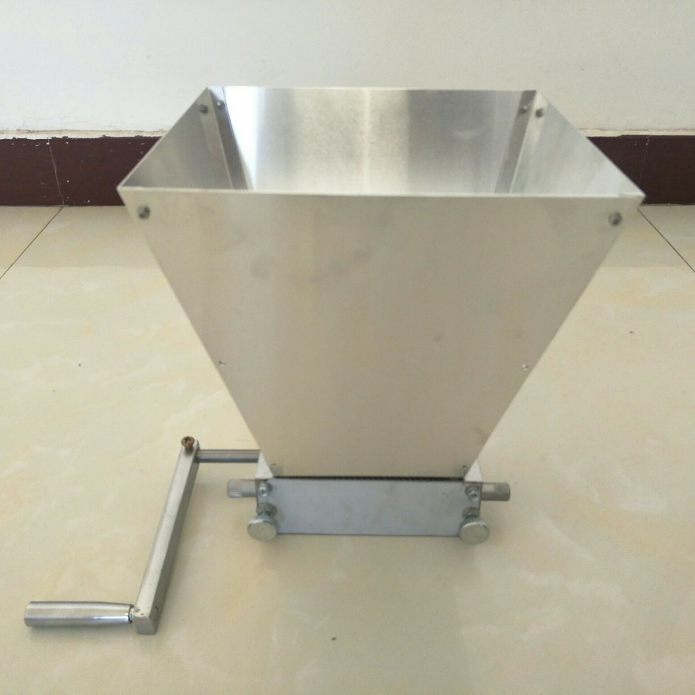 wholesale hand craft malt mill wheat grain mill crusher home brew beer machine with two 45
