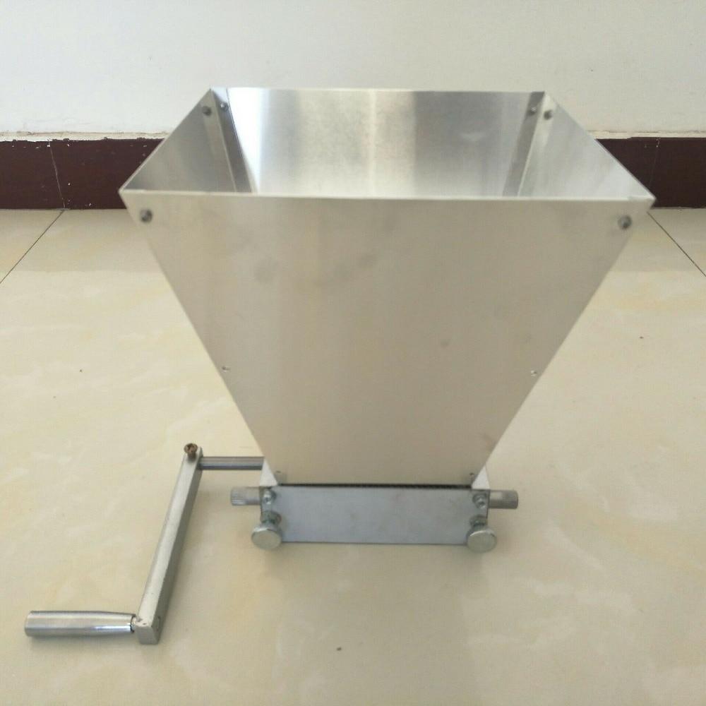 En gros artisanat malt moulin blé grain moulin concasseur maison brassage bière machine avec deux rouleaux en acier au carbone 45 #