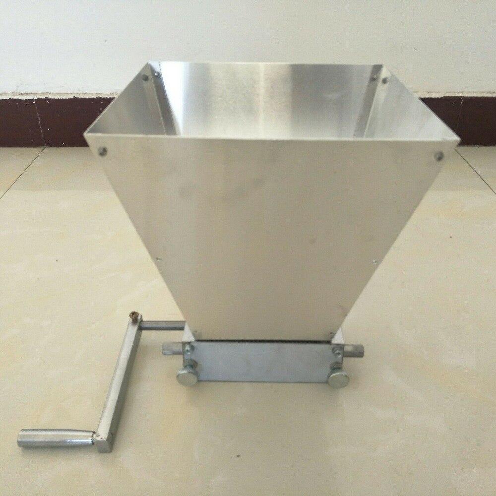 Venta al por mayor, máquina de cerveza artesanal, trituradora de grano de trigo, molinillo para el hogar, con dos rodillos de acero al carbono de 45 #-in Molinos from Hogar y Mascotas    1
