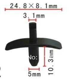 Se encaixa em 5mm buraco capa de isolamento & radiator seal push-tipo retentor caso para Volvo 9133073-8 940 960 S80 S90 & V90 1991-ON