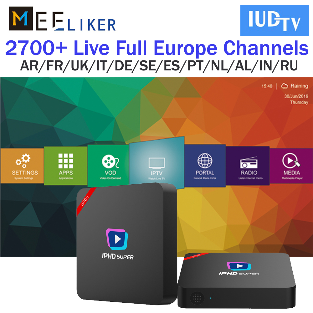 US $44 95 |2GB stalker Linux IPHD S900 Spanish french IUDTV IPTV  Subscription Spain Africa France Arabic euro M3U Enigma2 Smart TV IPTV  box-in Set-top