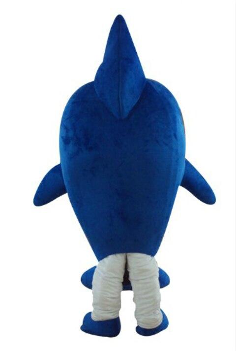 Для взрослых детей атаки голубая акула костюм вечерние талисман животных костюм комбинезон Хэллоуин Пурим нарядное платье комбинезон для ... - 3