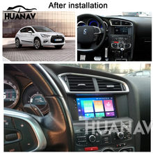 HUANVA Car DVD Player GPS navigation For Citroen C4 C4L DS4 2011 2012 2013 2014 2015 multimedia Audio Radio player recorder navi(China)