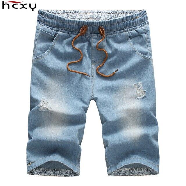 2016 Men Shorts Brand Summer New Men Jeans Shorts Plus Size  Fashion Designers Shorts Cotton Jeans Men's Slim Jeans Shorts Men