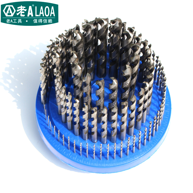цена на LAOA 100pcs High-speed Steel Drill Size 1MM-13MM Twist drill Sets Metal bit