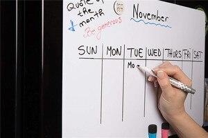 Image 5 - A3 magnético seco wipe quadro branco para geladeira adesivo 5 marcadores finos 1 eliminador geladeira ímã organizador planejador lembrete placa