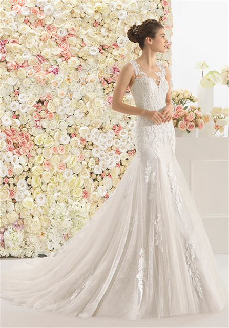 Mermaid Style Wedding Dress.Us 168 0 Matt Cotton Guipure Lace And Tulle Mermaid Style Wedding Dress With Sweetheart Neckline And Tattoo Back Bridal Dress In Wedding Dresses