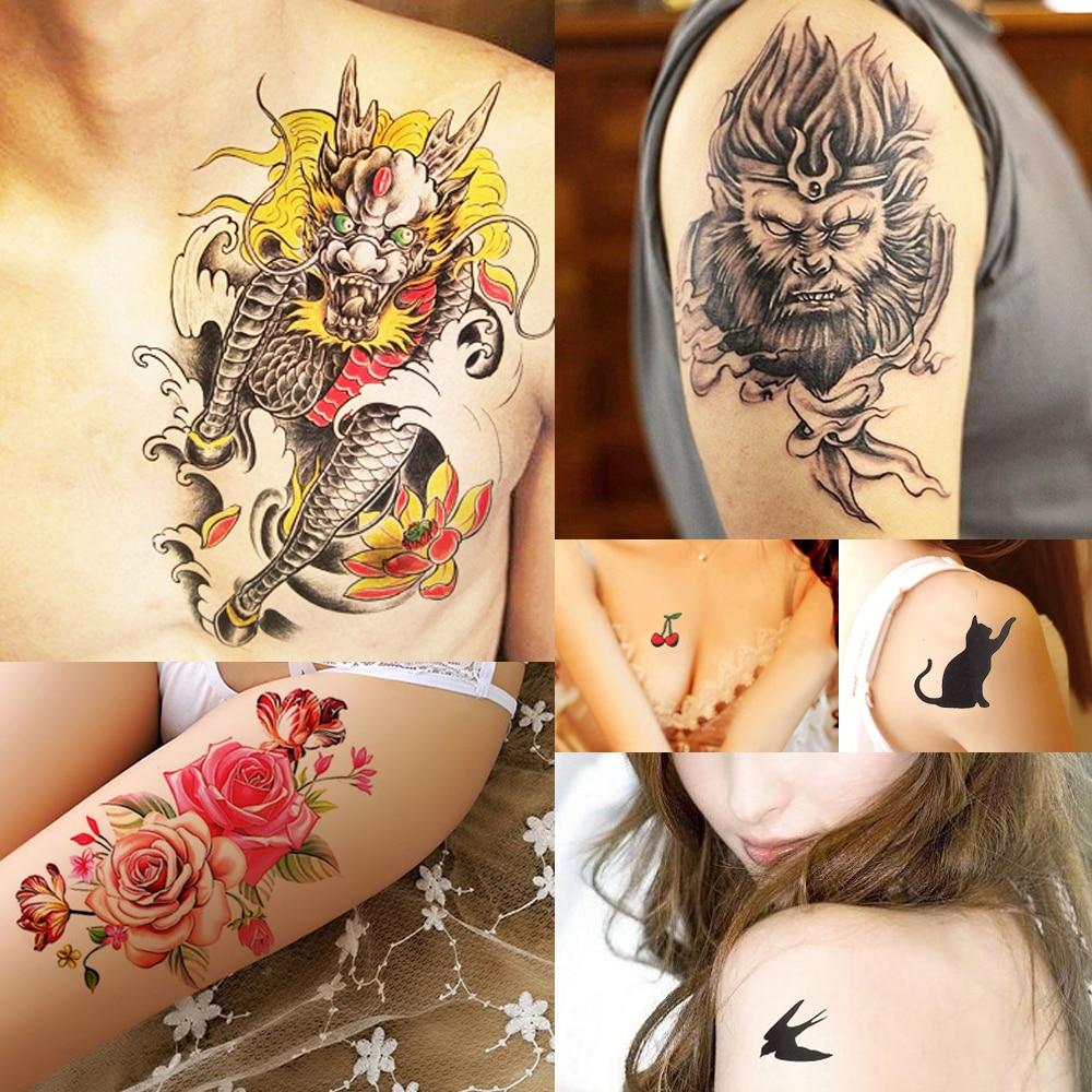 12 Designs 1 Piece Flower Pattern Body Art Decal Waterproof Temporary Tattoo for Women Arm Leg Art Tattoo Paper Summer Style New